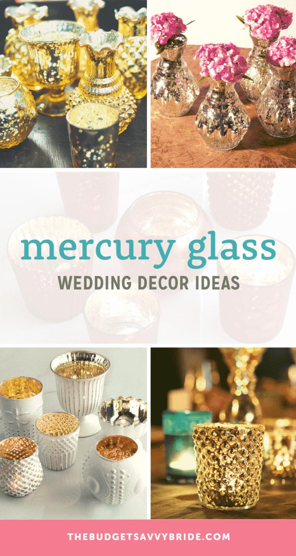 mercury glass wedding decor