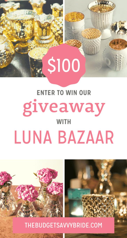 mercury glass wedding decor - luna bazaar giveaway