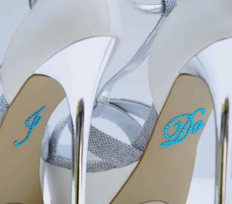 something blue wedding shoe stickers