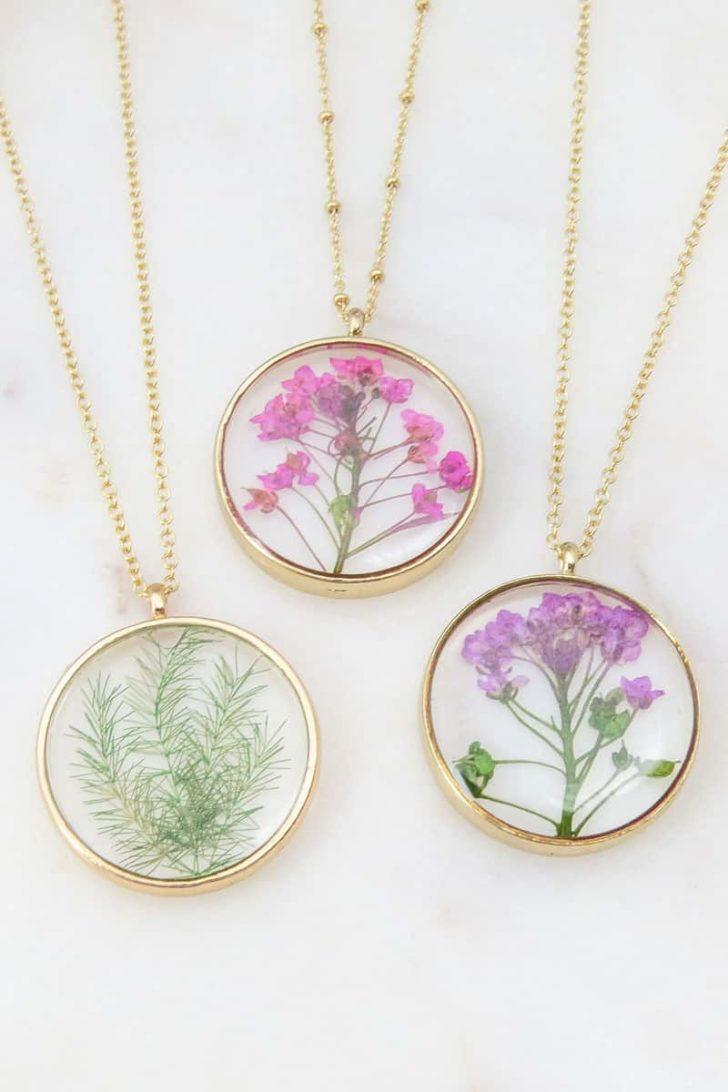 EmeryandOpal on Etsy - Pressed Flower Necklace