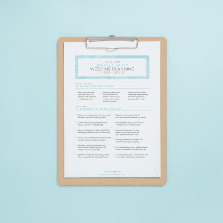 free printable wedding timeline checklist