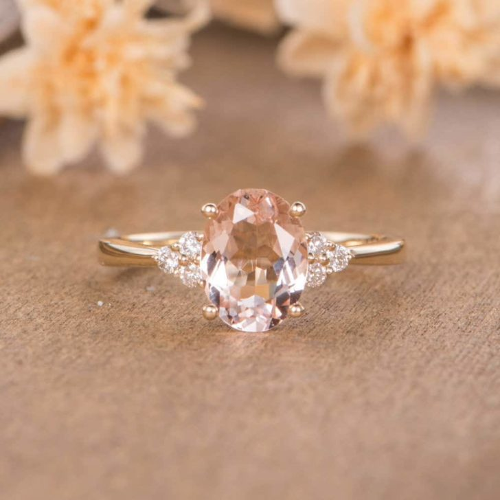 morganite engagement ring blush pink