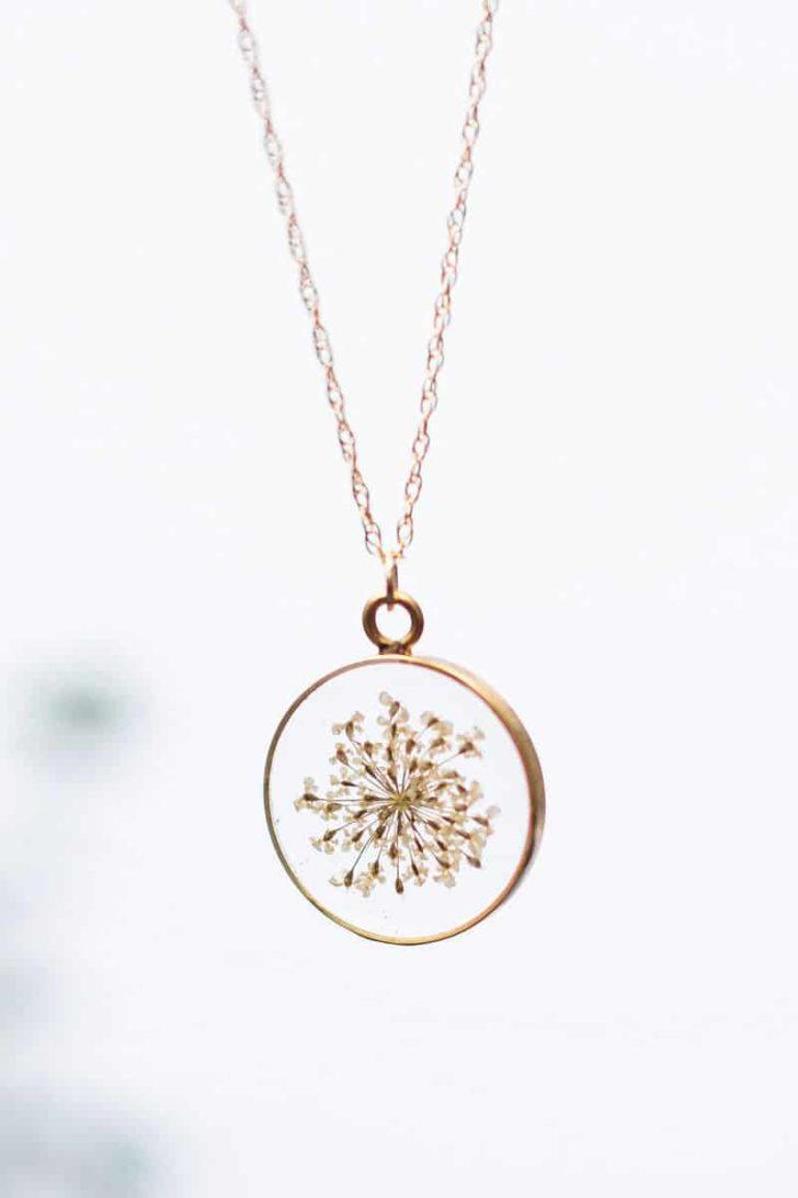 OliveBella on Etsy - Pressed Flower Dandelion Necklace