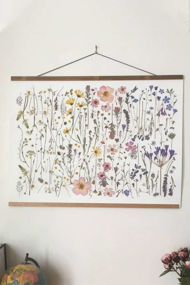pressed flower print from tricia paoluccio