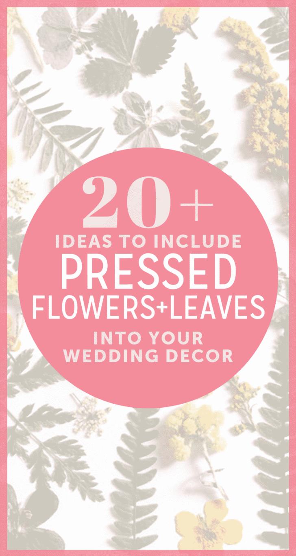 pressed flowers for weddings