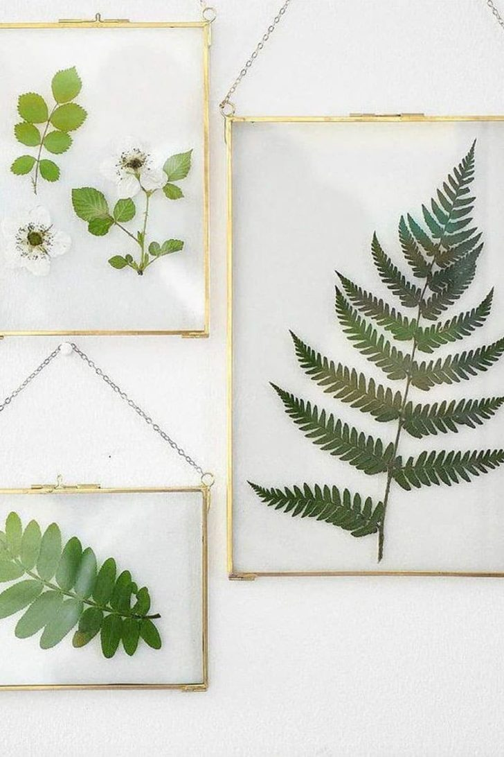HomeGreenDecor on Etsy - Pressed Leaves Framed Decor
