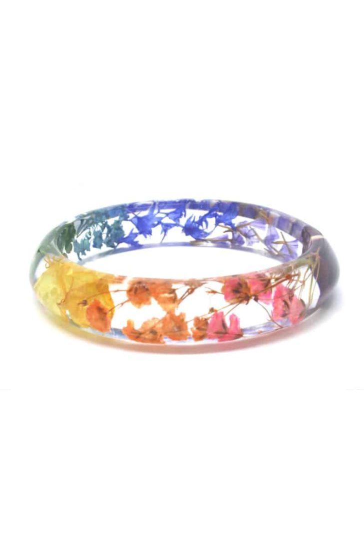 SmilewithFlower on Etsy - Pressed Flowers Bracelet