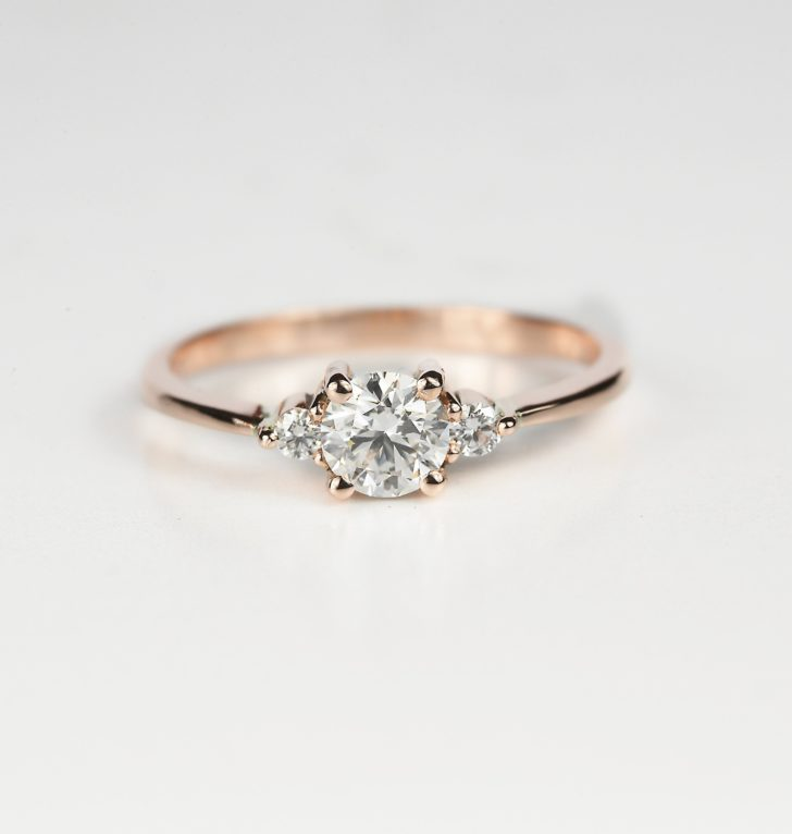 Rose Gold Engagement Ring DiorahJewellery