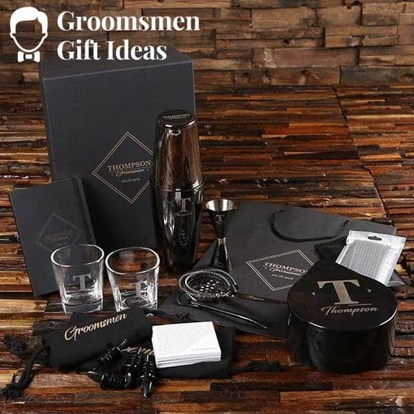 groomsmen mixology set