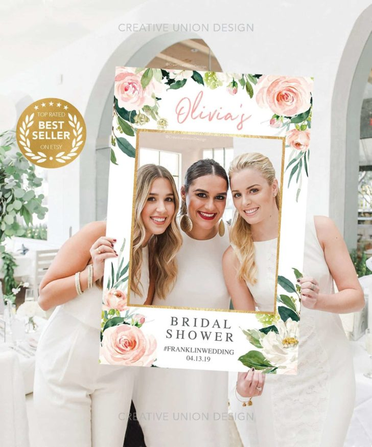 Bridal Shower Photo Prop Frame - Creative Union Design