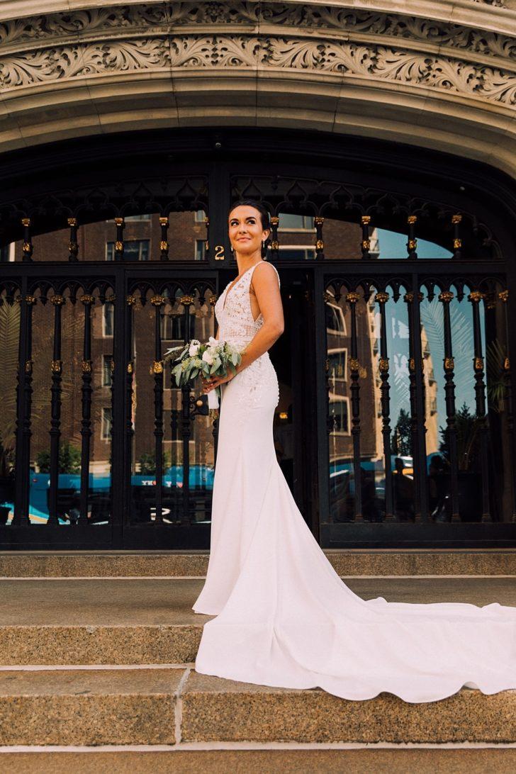 An Elegant New York City Wedding On A 40k Budget,Mermaid Backless Wedding Dresses Uk