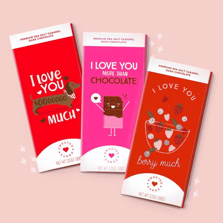 Sweeter Cards - Chocolate Bar Card
