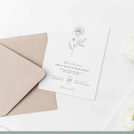 Elegant Floral Printable Wedding Invitations