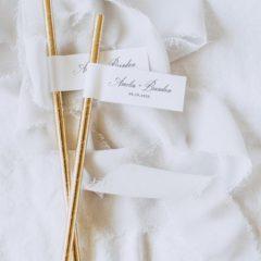 wedding straw flags