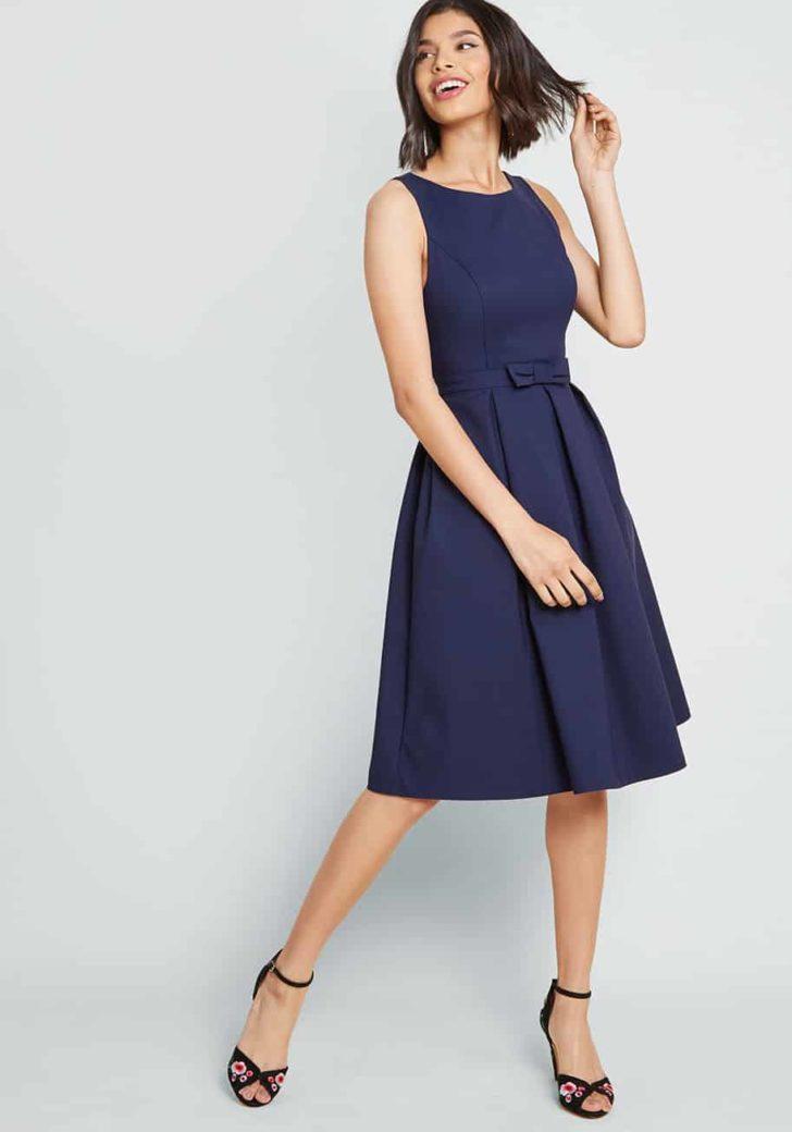 Polish Aplenty Fit and Flare Dress