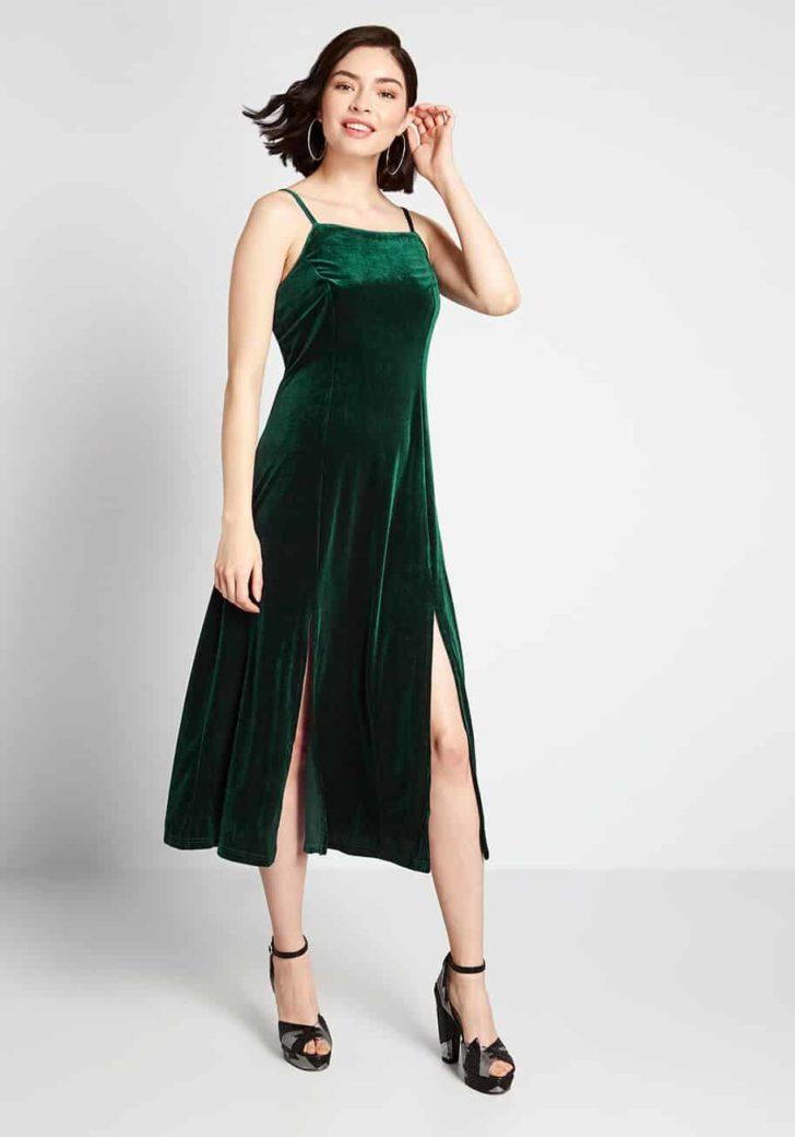 Material Girl Velvet Midi Dress By Louche