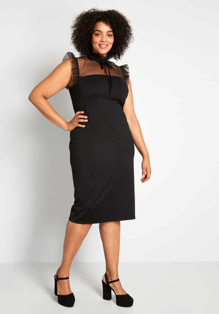 This Calls for Lace! Sheath Dress By ModCloth