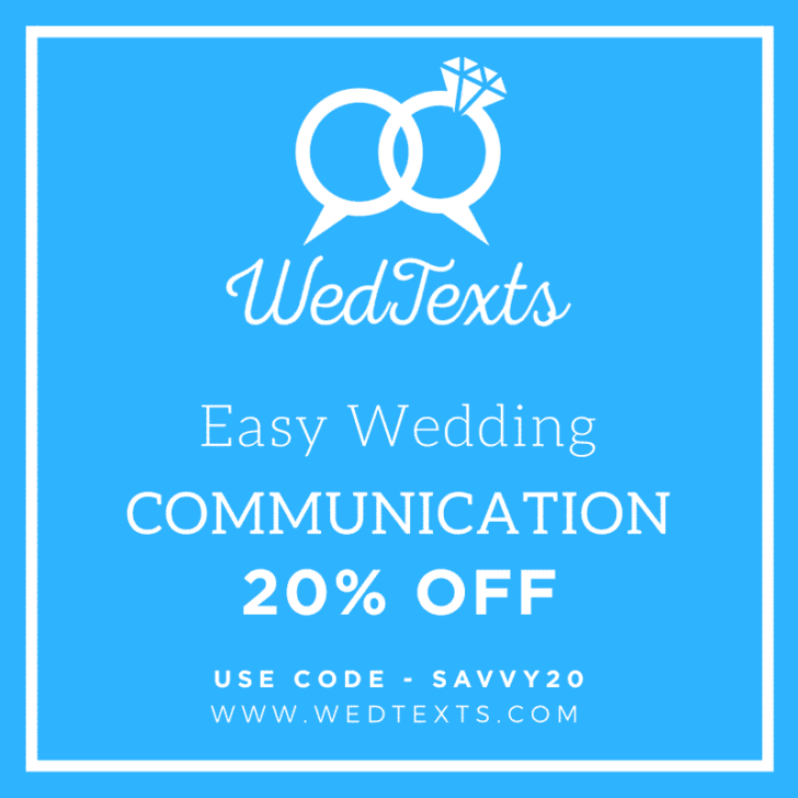 wedtexts - save 20% on your package