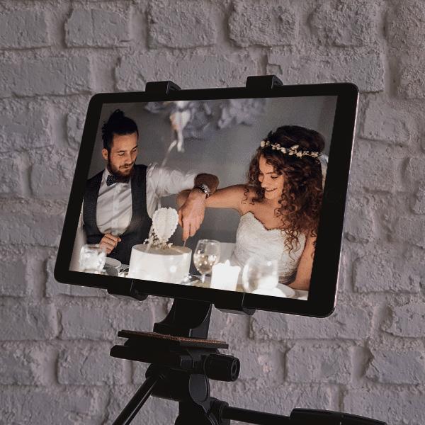 ipad tripod virtual wedding