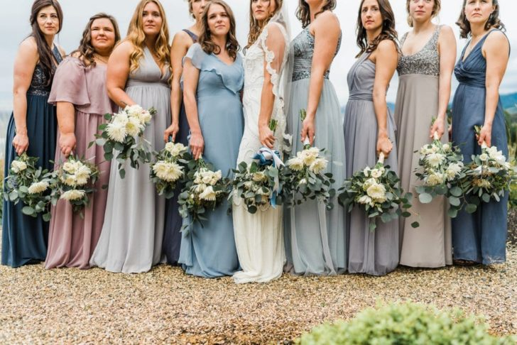 Mismatched Bridesmaids Dresses - Intimate Microwedding