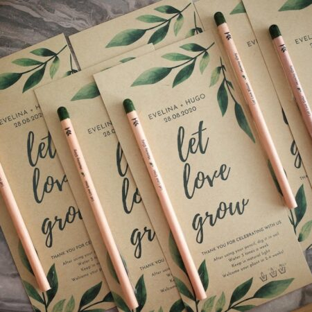 Let Love Grow Eco-friendly wedding favors