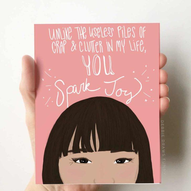 Debbie Draws Funny - Markie Kondo Card - Spark Joy