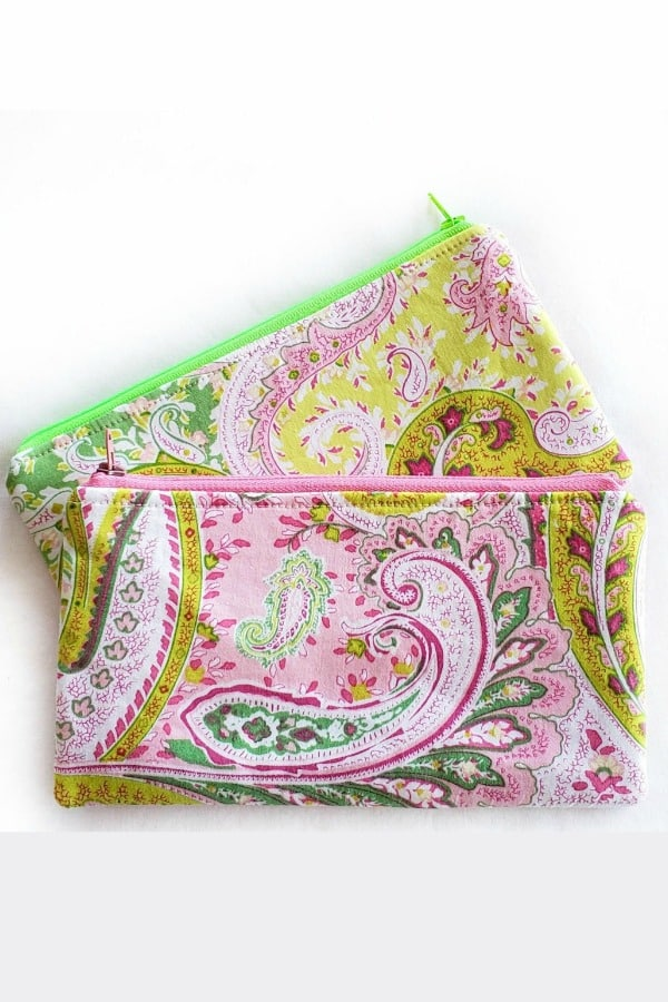 Eco Friendly Paisley Zipper Pouch By ReFabulous