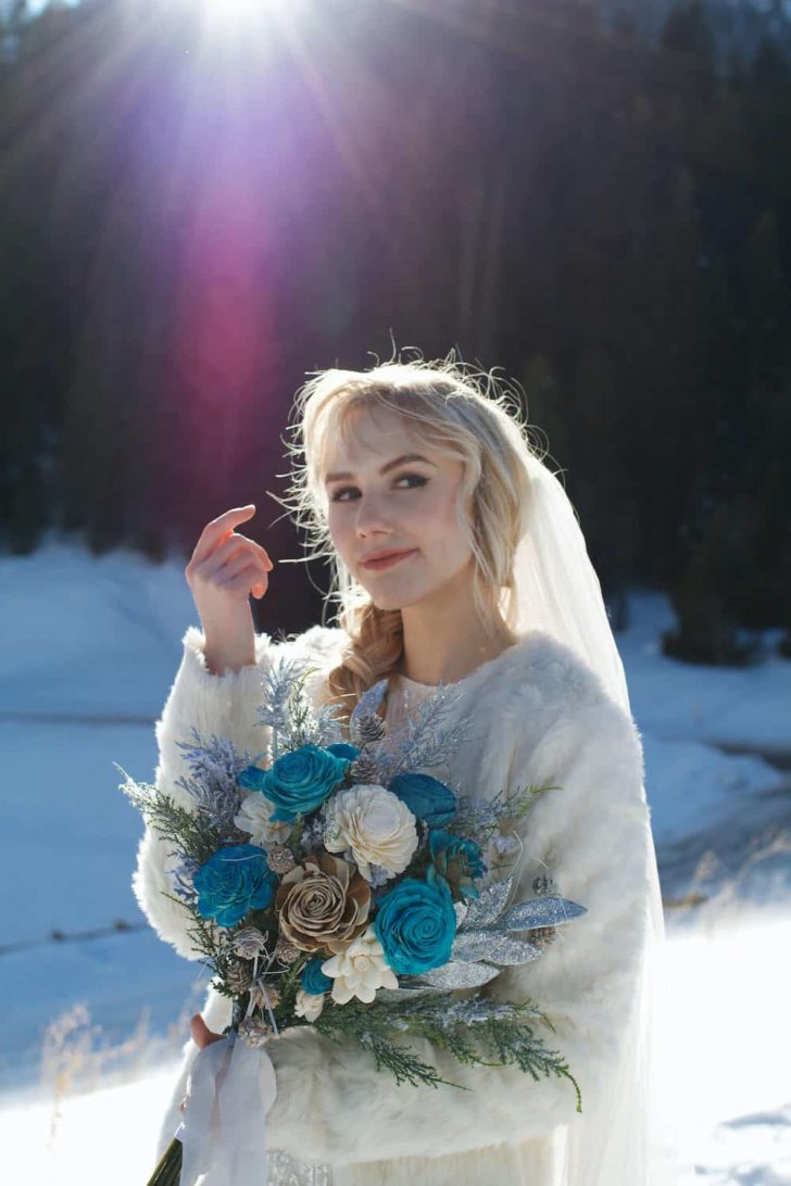 Wood flower wedding bouquet inspiration for winter  Florist, Wild Escape Creations