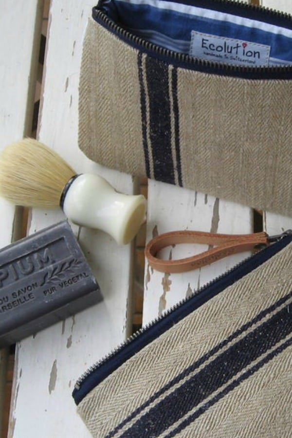 French Linen Toiletry Bag By Ecolution