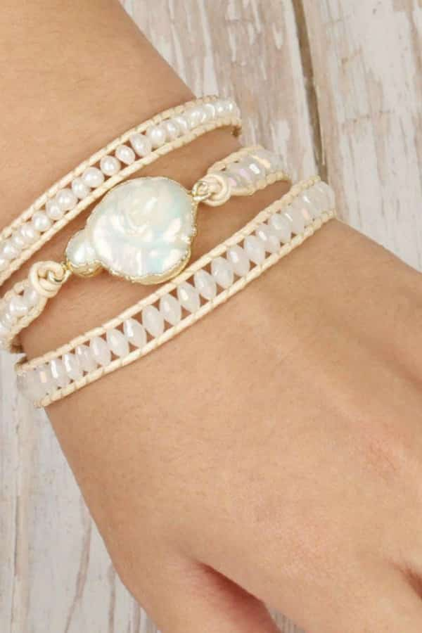 Freshwater Pearl Wrap Bracelet - eco-friendly bridesmaids gift ideas