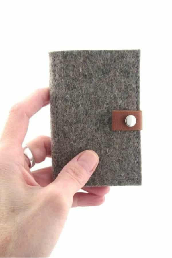 Minimalist Wool Wallet By Ecolution