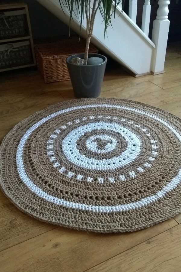 Natural Jute and Cotton Rug