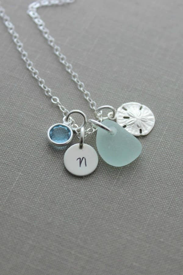 Personalized Charm Necklace - eco-friendly bridesmaids gift ideas