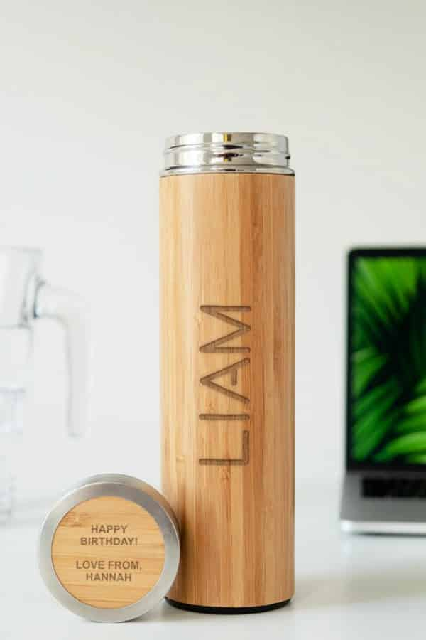 Wooden Bamboo Flask By DUSTandTHINGS