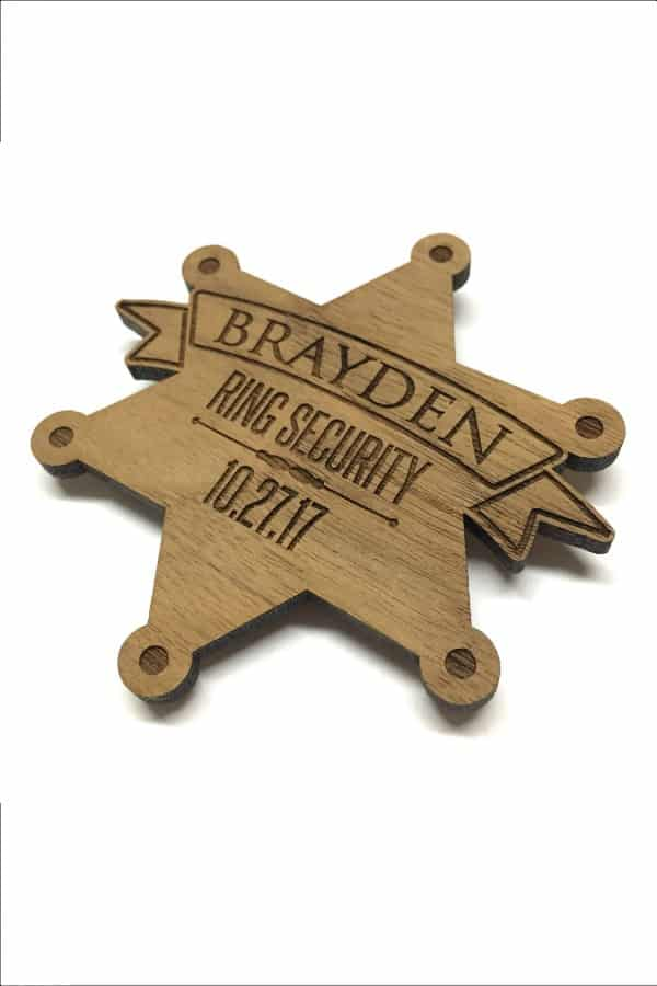 Wooden Ring Security Badge