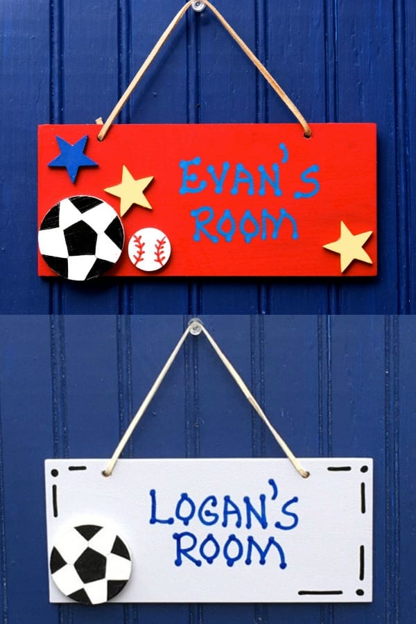 Wooden Sports Door Sign