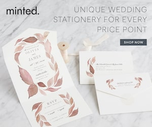 minted all in one wedding invitations- savvy wedding