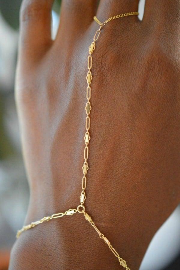 Gold Hand Bracelet