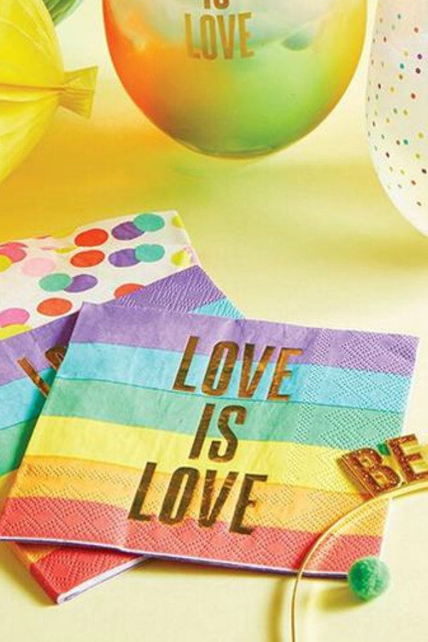 Love is Love Rainbow Cocktail Napkins  LGBTQ+ Wedding Accessories | Etsy Finds | Pride 2020