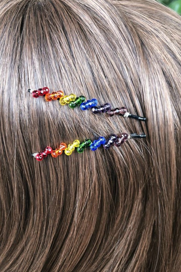 Rainbow Bobby Pin Set  LGBTQ+ Wedding Accessories | Etsy Finds | Pride 2020