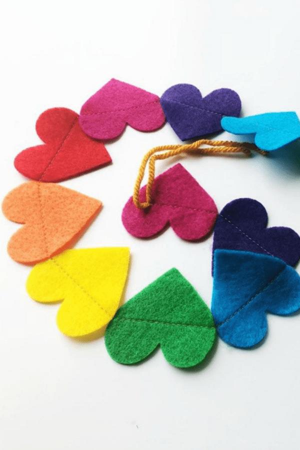 Rainbow Heart Garland  LGBTQ+ Wedding Accessories   Etsy Finds   Pride 2020