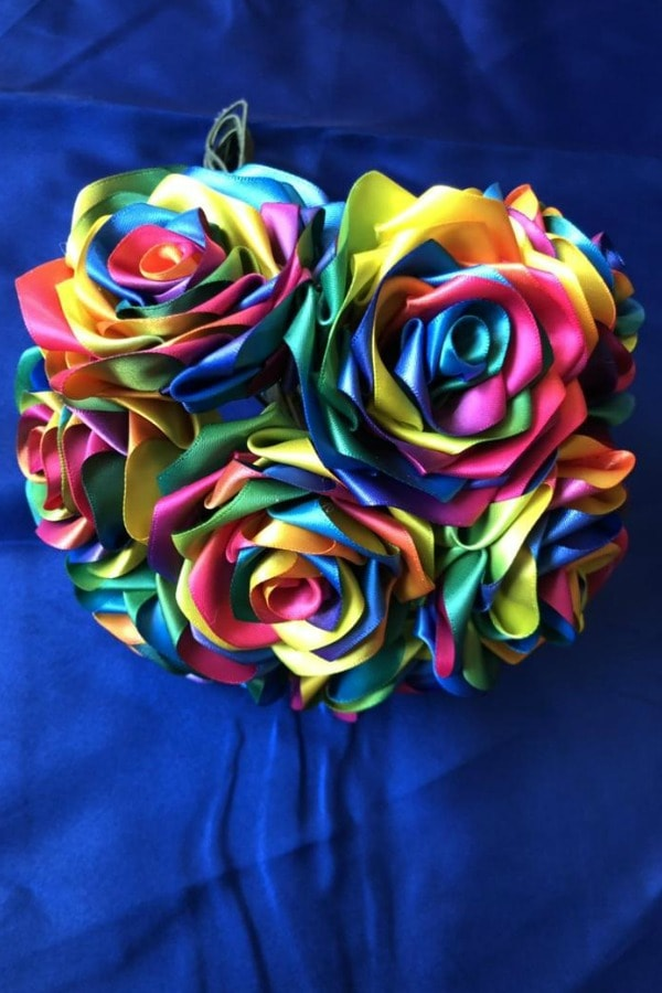 Rainbow Ribbon Roses Bouquet  LGBTQ+ Wedding Accessories | Etsy Finds | Pride 2020