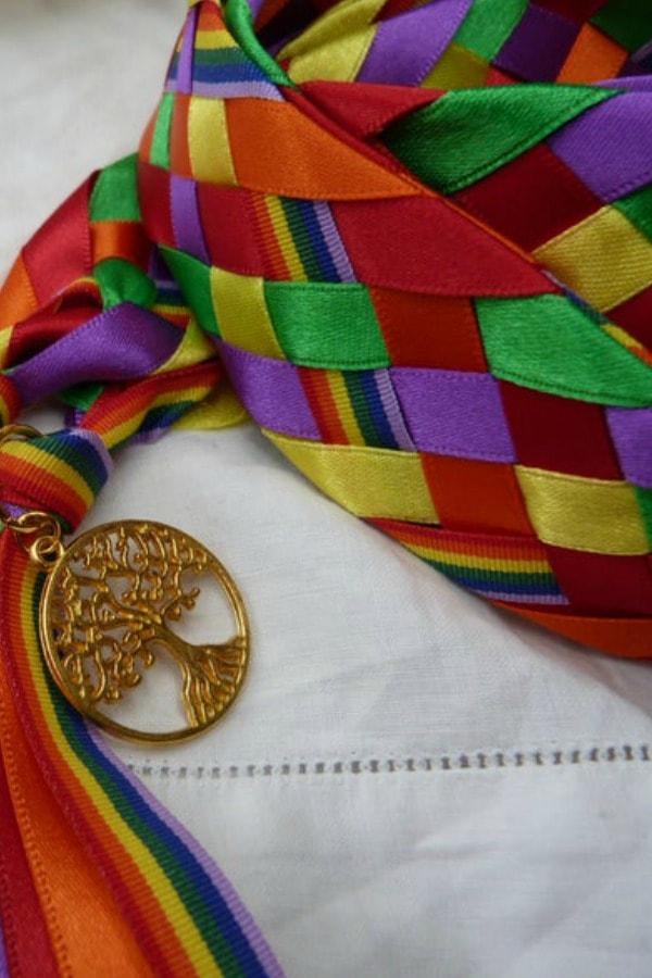Rainbow wedding cord  LGBTQ+ Wedding Accessories   Etsy Finds   Pride 2020