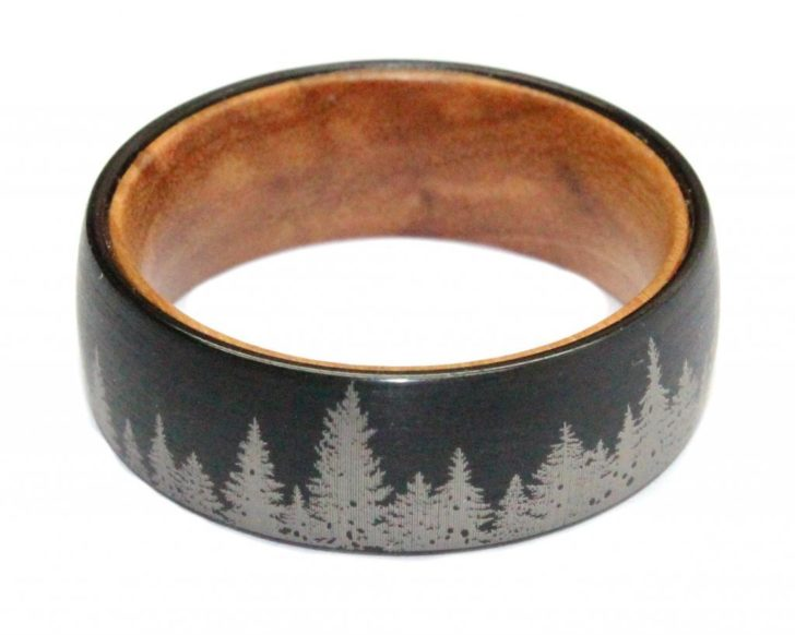 Laser Etched Wood Wedding Ring • WoodenRings.com