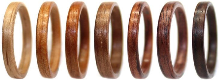 wooden wedding rings • WoodenRings.com