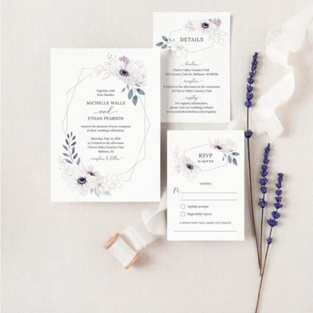 Anemone Wedding Invitation Suite