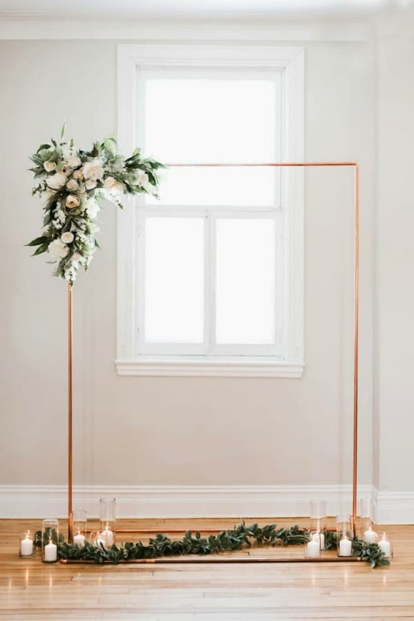 Copper Wedding Backdrop Stand