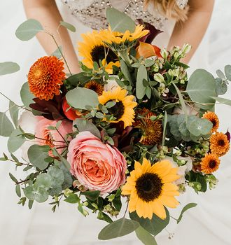 Autumn Sunrise Collection - Fifty Flowers Wedding Collections - Pre-arranged wedding flower packs