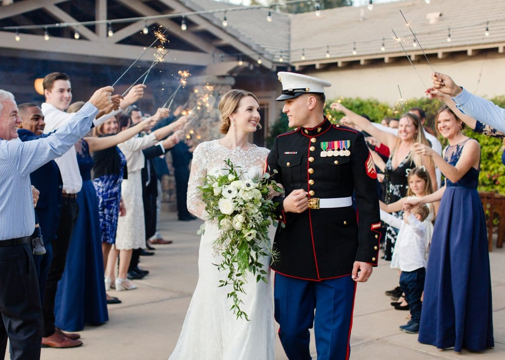Navy, Gold, and White Golf Course Wedding for $12K