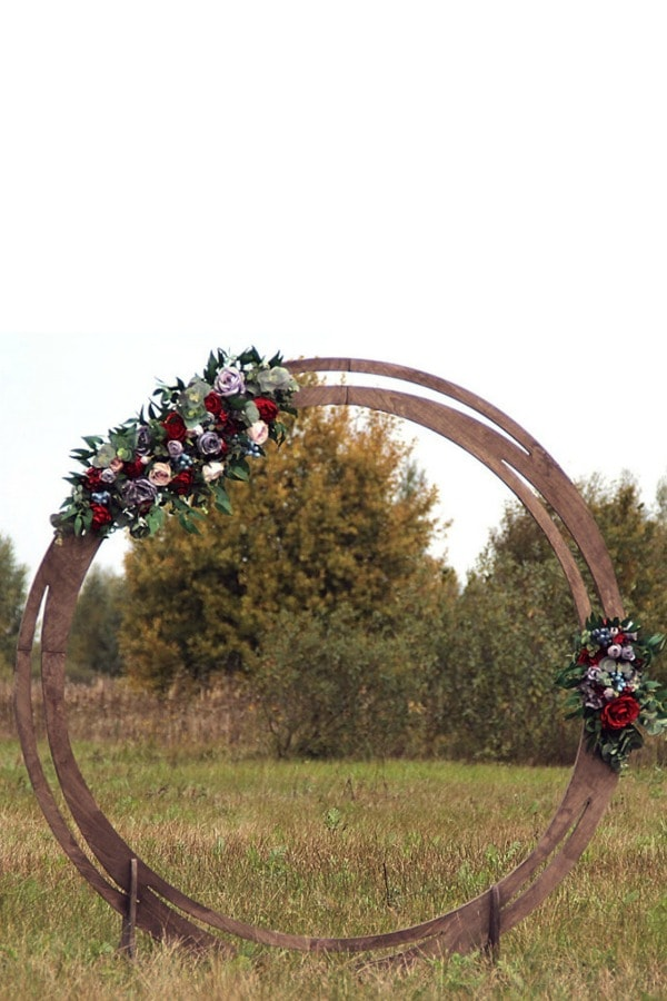Round Wooden Wedding Arch